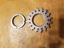 "Redline Cr-Mo Steel 16T Single Speed Bike Track Cog - Threaded w Lockring 3/32"""