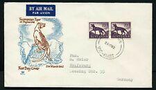 Australia 1962 1/2 Tassy Tiger pair - Royal Fdc