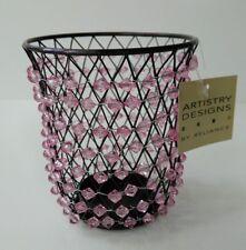 Jardin Wire Rasberry Beaded Globe Votive Candle Holder 6 In Case Purple/Pink