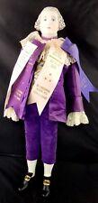 "* Antique Emma Clear George Washington Doll 21"" Award Ribbons *"