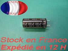 3300 uF 6.3 V condensateur capacitor  marque/brand panasonic  105°C