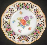 Schumann Empress Dresden Flowers Reticulated Bread Plate Porcelain 5 3/4 Ref 4