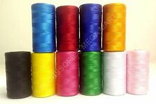 10 Silk art Machine Embroidery Thread Rayon Spools For Brother Janome Machines