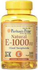Vitamin E 1000 Iu Mixed Tocopherols Natural 100 Softgels 100 Count High Quality
