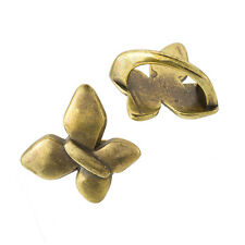 Brass butterfly curseur charme anneaux fit regaliz cordon 20mm pack de 2 (F23 / 10)