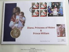 1997 SILVER PROOF SEYCHELLES 25 RUPEES COIN PNC PRINCESS DIANA  + WILLIAM