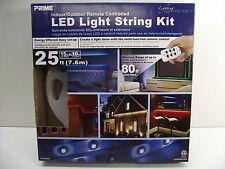 LED REMOTE CONTROLLED Prime Indoor/Outdoor LED Light String Kit 25 ft