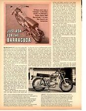 1968 BENELLI SUPER SPORT 250 BARRACUDA MOTORCYCLE  ~  ORIGINAL 2-PG ARTICLE / AD