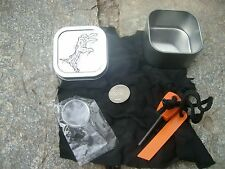 CHAR CLOTH FIRE STARTING KIT ZOMBIE CHAR SURVIVAL CAMPING PRIMITIVE SKILLS
