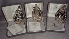 Reed Barton Waterford Sterling Joy Of Christmas Ornament Pendant Medallion Set 3