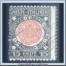 1921 Italia Regno Annessione Venezia Giulia c. 15 grigio verde rosa n. 113 Usato