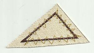 Toile Résumé Art Droit Triangle Géométrie Forme Patch Brodé