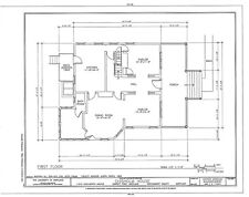 Shingle Style home, architectural floor plans, large porch, spacious rooms