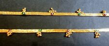 "Indian Gold Plated 10"" Payal Foot meenakari Chain Anklet Set Women kid Jewelry f"