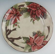 222 Fifth (PTS) China YULETIDE CELEBRATION-POINSETIA Salad Plate(s) EX