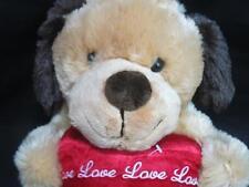 DAN DEE COLLECTORS CLASSIC LOVE VALENTINE HEART POCKET KEEPER PUPPY DOG TAN PLUS