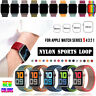 38/42/40/44mm Nylon Sports Loop iWatch Band Strap for Apple Watch Series 5 4 3 2