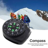 Mini Watch Strap Button Compass Survival Outdoor Hiking Camping Accessories B4G4