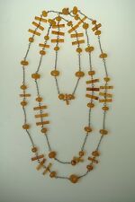 Long Necklace from Pressed Baltic Amber 58 gr *1018