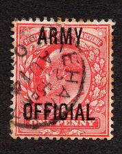 GB KEVII ~ 1902 SG049 Army Official Overprint With Double Strike