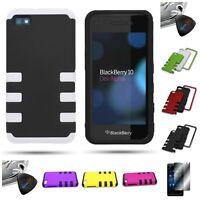 For Blackberry Z10 - TPU Skin Hard Dual Layer Hybrid Case