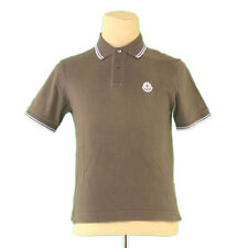 Moncler Polo shirt Green Blue Mens Authentic Used L2397