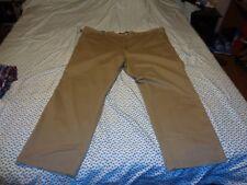 New Mens Lee Weekend Flat Font Chino Big Pants 52X32 Straight Fit. Tan Beige.