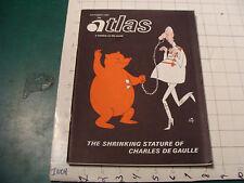 vintage HIGH GRADE magazine: ATLAS Sept 1967, 66pgs, CHARLES DE GAULLE