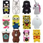 3D Cartoon Soft Silicone Back Cover Case For Samsung Galaxy S4 S5 S6 Note 5 G530