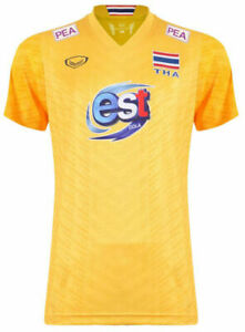 100% Authentic 2021 Thailand National Volleyball Team Jersey Shirt Player Yellow