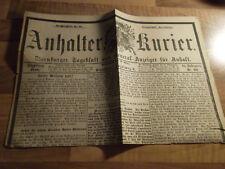 """Anhalter Kurier #60 vom 10.03.1888 """"Kaiser Wilhelm todt!"""" - Dreikaiserjahr Adel"""