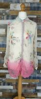 Monsoon Cream/Pink Long Sleeved Floral Ladies Blouse Top Size UK 12