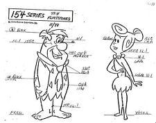 "FLINTSTONES ~ 29-PAGE SET OF 8"" X 11"" MODEL SHEET PAGES + CAPTAIN CAVEMAN~SCHMOO"