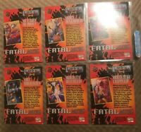 1994 X-MEN SERIES 1 FLEER ULTRA MARVEL FATAL ATTRACTIONS 6 CARD INSERT CHASE SET