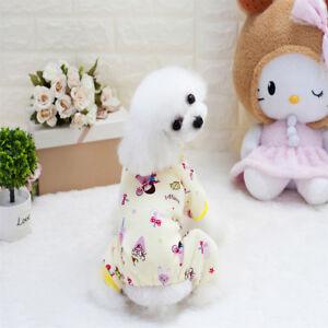 Pet Clothes Toy Dog Pajama Jumpsuit Soft Cotton Fleece Sleepwear Coat Boat Car