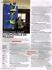 Coupure de Presse Clipping 2012 (1 page) Francoise Gilot demoiselle de Picasso