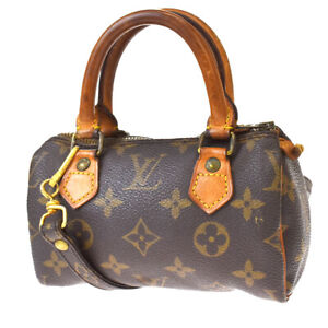 Auth LOUIS VUITTON Mini Speedy 2Way Hand Bag Monogram Leather BN M41534 85MH692