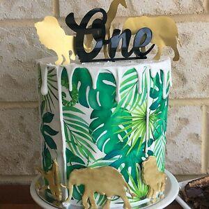 Fern Leaf Edible Icing Image Cake Wrap Topper