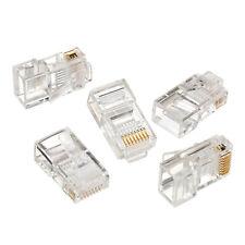 100 Stück Netzwerkstecker Draht Modular Crimp Stecker RJ45 8P8C CAT5 5e NEU