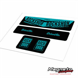 Rock Shox Monarch Plus RC3 2017 Style - Reproduction Shock Decals