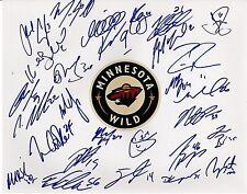 Minnesota Wild 2013-14 Team Signed Autographed 11x14 Team Photo 27 sigs Ph1083