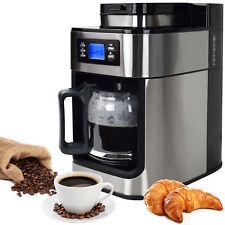 Syntrox Germany Edelstahl Kaffeemaschine Kaffeeautomat mit Mahlwerk und Timer