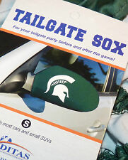 MICHIGAN STATE UNIVERSITY SPARTANS TAILGATE SOX MIRROR COVER MSU GO GREEN NICE !