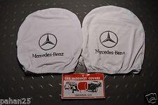 Pair Cover on the headrest MERCEDES Decken Sie auf der Kopfstütze MERCEDES