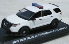 Motormax 1/43 2015 Ford PI Utility Police SUV (Explorer) - Blank White - 79476