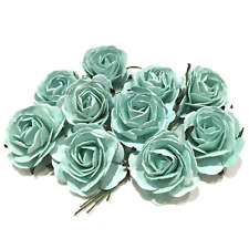 Mint Heritage Mulberry Paper Roses Hr007 40mm