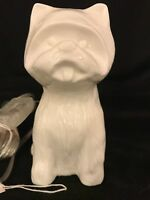 Ceramic WESTIE TABLE LAMP -  NWT (West Highland White Terrier)