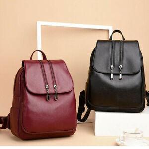 Women's Leather Backpack Travel Backpack School Bags Teenager Girl Birthday Gift