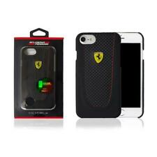 FERRARI HARD CASE COQUE RIGIDE COVER ORIGINALE PER IPHONE 7 NERO