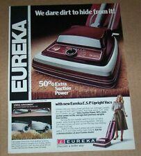 1978 advertising page -Eureka ESP Vacuum Cleaners home cleaning Vintage PRINT AD